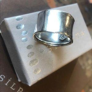 Silpada sterling cuff ring
